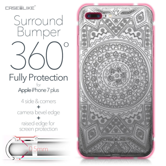 Apple iPhone 7 Plus case Indian Line Art 2063 Bumper Case Protection | CASEiLIKE.com