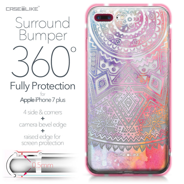 Apple iPhone 7 Plus case Indian Line Art 2065 Bumper Case Protection | CASEiLIKE.com