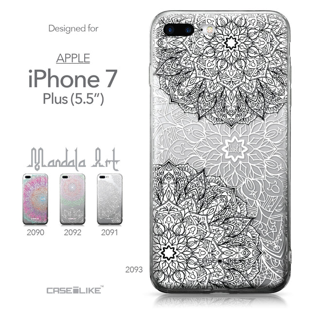 Apple iPhone 7 Plus case Mandala Art 2093 Collection | CASEiLIKE.com