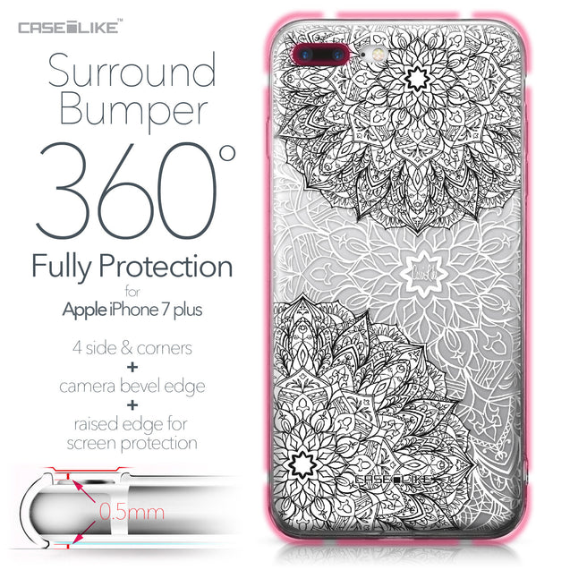 Apple iPhone 7 Plus case Mandala Art 2093 Bumper Case Protection | CASEiLIKE.com