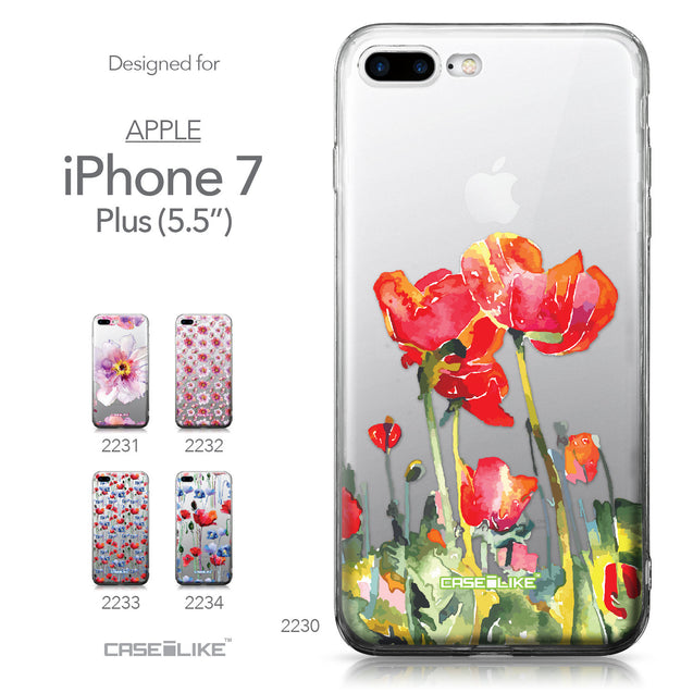 Apple iPhone 7 Plus case Watercolor Floral 2230 Collection | CASEiLIKE.com