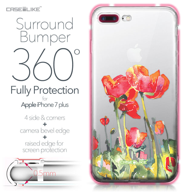 Apple iPhone 7 Plus case Watercolor Floral 2230 Bumper Case Protection | CASEiLIKE.com