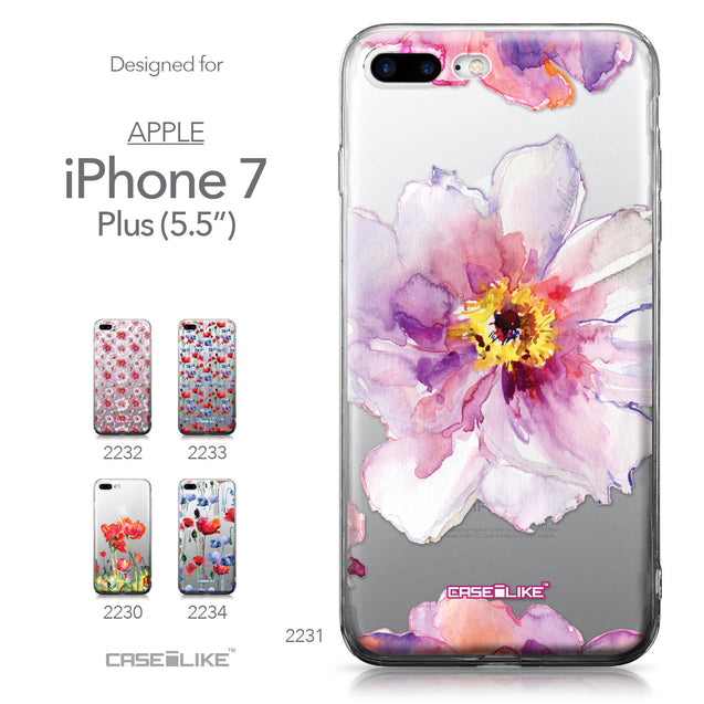 Apple iPhone 7 Plus case Watercolor Floral 2231 Collection | CASEiLIKE.com