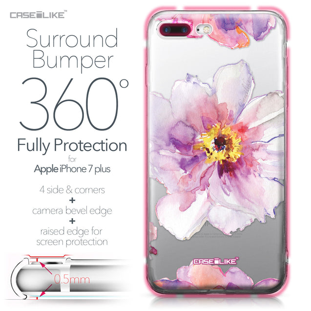 Apple iPhone 7 Plus case Watercolor Floral 2231 Bumper Case Protection | CASEiLIKE.com
