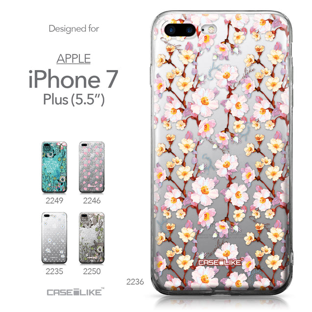 Apple iPhone 7 Plus case Watercolor Floral 2236 Collection | CASEiLIKE.com