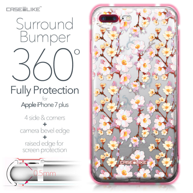 Apple iPhone 7 Plus case Watercolor Floral 2236 Bumper Case Protection | CASEiLIKE.com