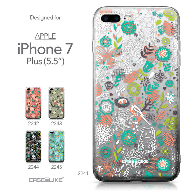 Apple iPhone 7 Plus case Spring Forest White 2241 Collection | CASEiLIKE.com