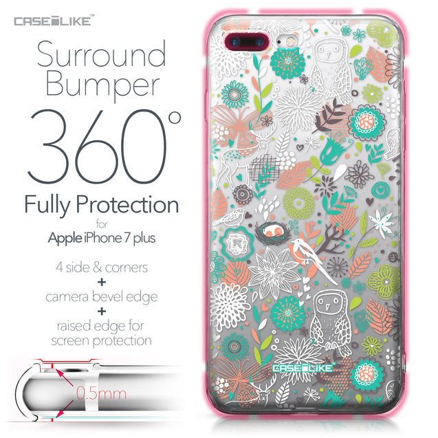 Apple iPhone 7 Plus case Spring Forest White 2241 Bumper Case Protection | CASEiLIKE.com