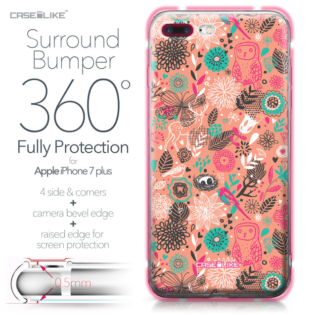 Apple iPhone 7 Plus case Spring Forest Pink 2242 Bumper Case Protection | CASEiLIKE.com