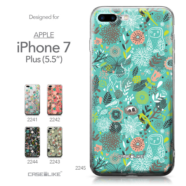 Apple iPhone 7 Plus case Spring Forest Turquoise 2245 Collection | CASEiLIKE.com