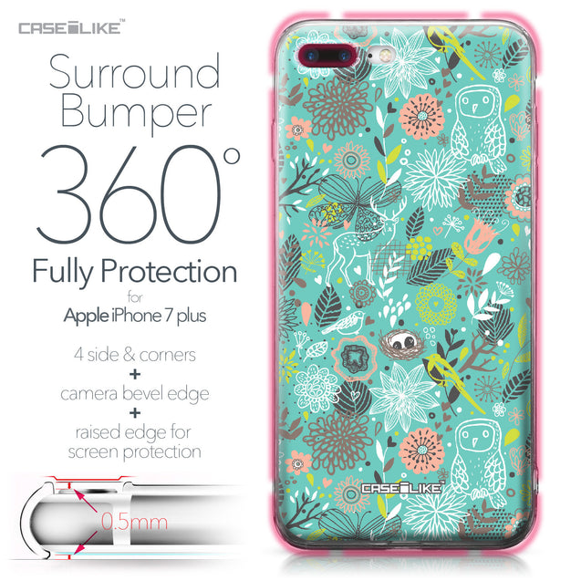 Apple iPhone 7 Plus case Spring Forest Turquoise 2245 Bumper Case Protection | CASEiLIKE.com
