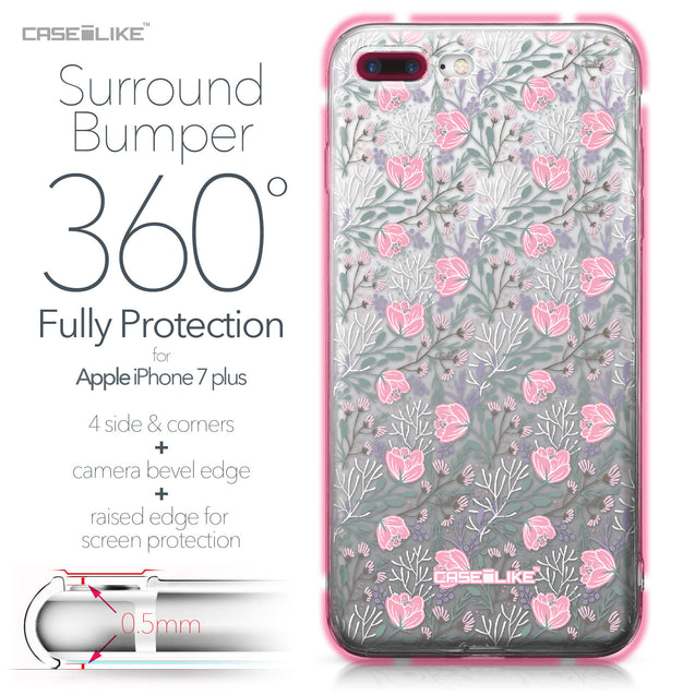 Apple iPhone 7 Plus case Flowers Herbs 2246 Bumper Case Protection | CASEiLIKE.com