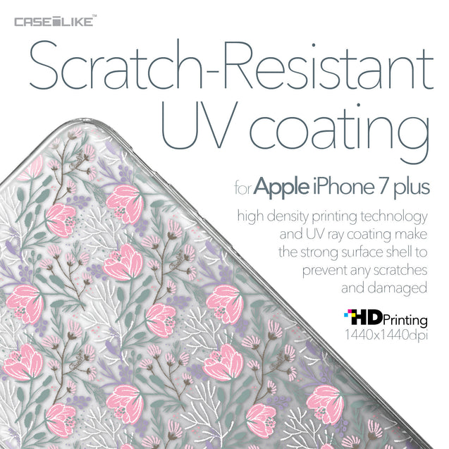 Apple iPhone 7 Plus case Flowers Herbs 2246 with UV-Coating Scratch-Resistant Case | CASEiLIKE.com