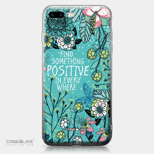 Apple iPhone 7 Plus case Blooming Flowers Turquoise 2249 | CASEiLIKE.com