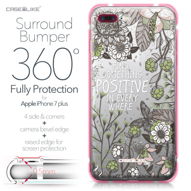 Apple iPhone 7 Plus case Blooming Flowers 2250 Bumper Case Protection | CASEiLIKE.com