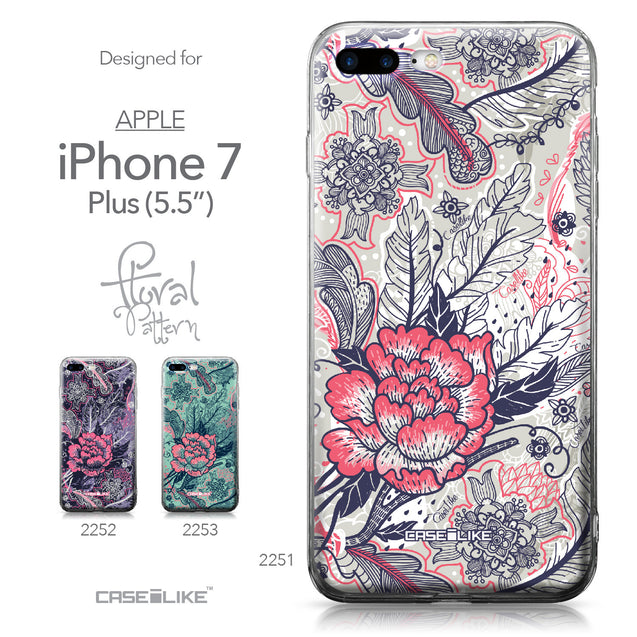 Apple iPhone 7 Plus case Vintage Roses and Feathers Beige 2251 Collection | CASEiLIKE.com