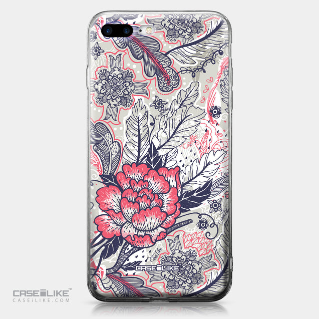 Apple iPhone 7 Plus case Vintage Roses and Feathers Beige 2251 | CASEiLIKE.com