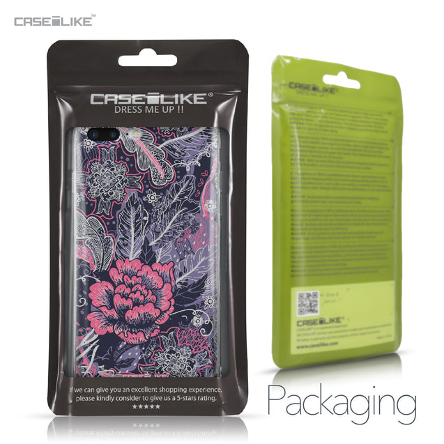 Apple iPhone 7 Plus case Vintage Roses and Feathers Blue 2252 Retail Packaging | CASEiLIKE.com