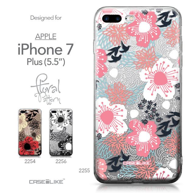 Apple iPhone 7 Plus case Japanese Floral 2255 Collection | CASEiLIKE.com