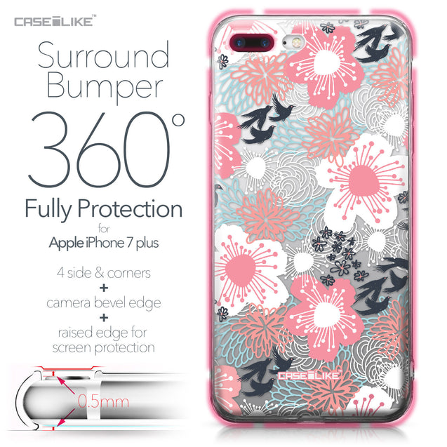 Apple iPhone 7 Plus case Japanese Floral 2255 Bumper Case Protection | CASEiLIKE.com