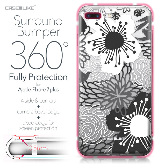 Apple iPhone 7 Plus case Japanese Floral 2256 Bumper Case Protection | CASEiLIKE.com