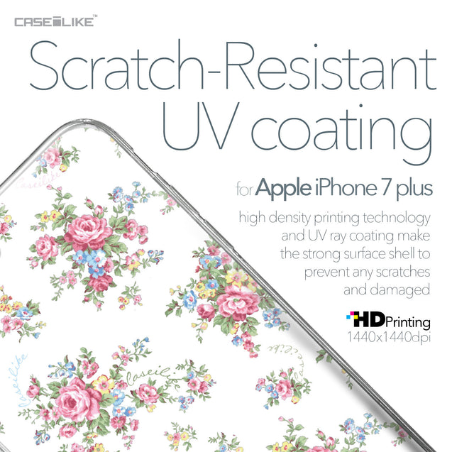 Apple iPhone 7 Plus case Floral Rose Classic 2260 with UV-Coating Scratch-Resistant Case | CASEiLIKE.com