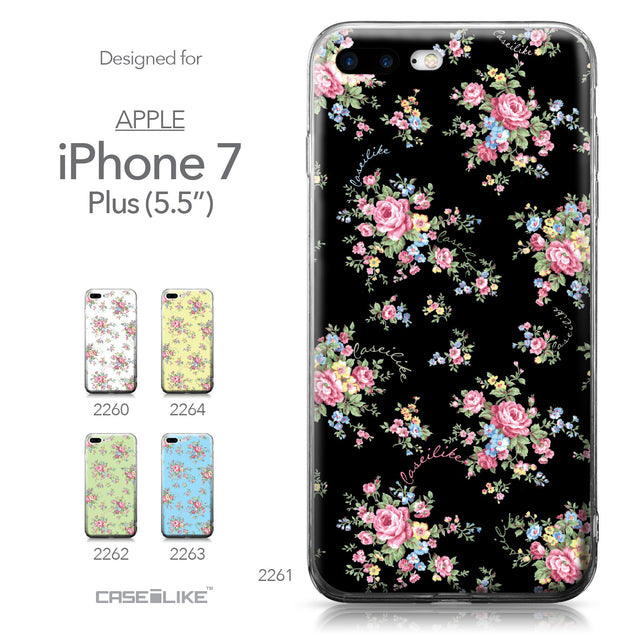 Apple iPhone 7 Plus case Floral Rose Classic 2261 Collection | CASEiLIKE.com