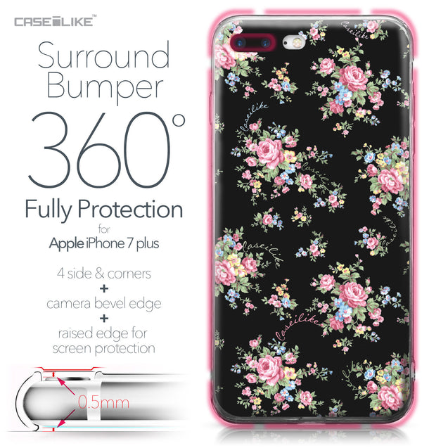 Apple iPhone 7 Plus case Floral Rose Classic 2261 Bumper Case Protection | CASEiLIKE.com