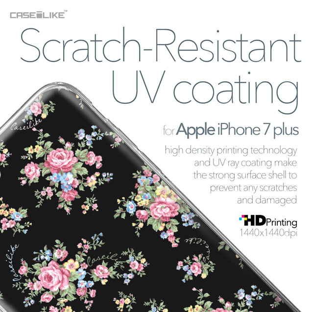 Apple iPhone 7 Plus case Floral Rose Classic 2261 with UV-Coating Scratch-Resistant Case | CASEiLIKE.com