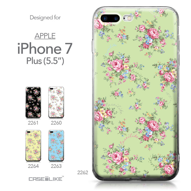 Apple iPhone 7 Plus case Floral Rose Classic 2262 Collection | CASEiLIKE.com