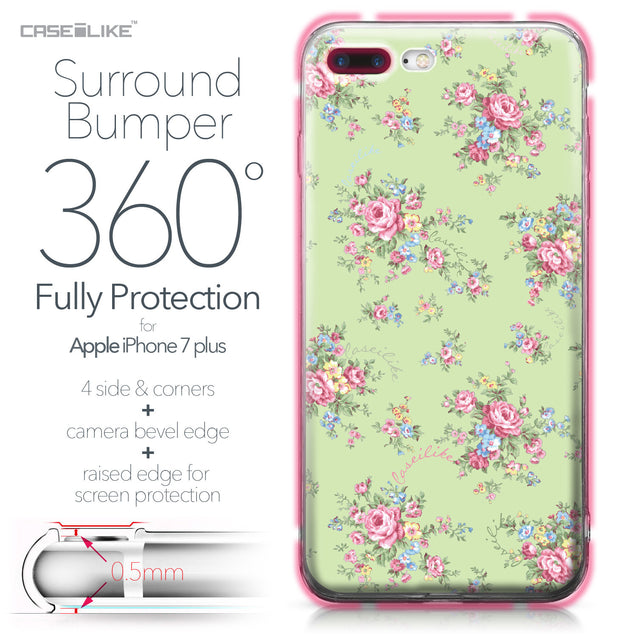 Apple iPhone 7 Plus case Floral Rose Classic 2262 Bumper Case Protection | CASEiLIKE.com