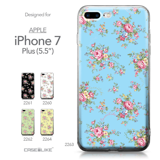 Apple iPhone 7 Plus case Floral Rose Classic 2263 Collection | CASEiLIKE.com