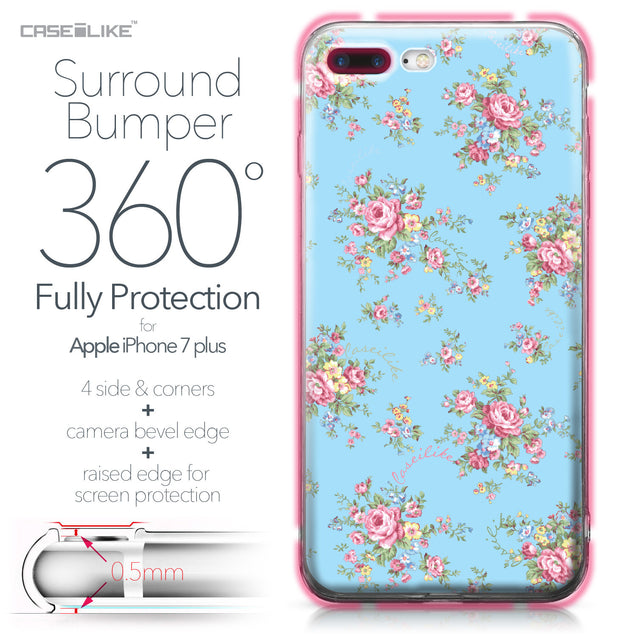 Apple iPhone 7 Plus case Floral Rose Classic 2263 Bumper Case Protection | CASEiLIKE.com