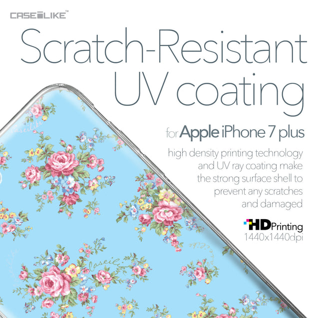 Apple iPhone 7 Plus case Floral Rose Classic 2263 with UV-Coating Scratch-Resistant Case | CASEiLIKE.com