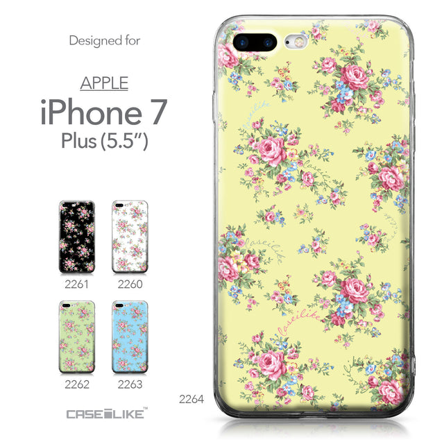 Apple iPhone 7 Plus case Floral Rose Classic 2264 Collection | CASEiLIKE.com