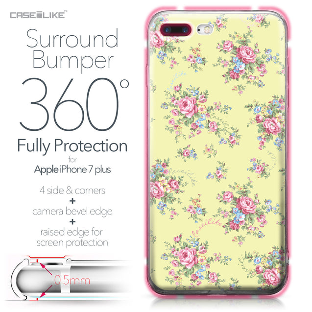 Apple iPhone 7 Plus case Floral Rose Classic 2264 Bumper Case Protection | CASEiLIKE.com