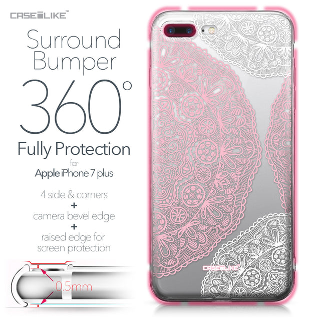 Apple iPhone 7 Plus case Mandala Art 2305 Bumper Case Protection | CASEiLIKE.com