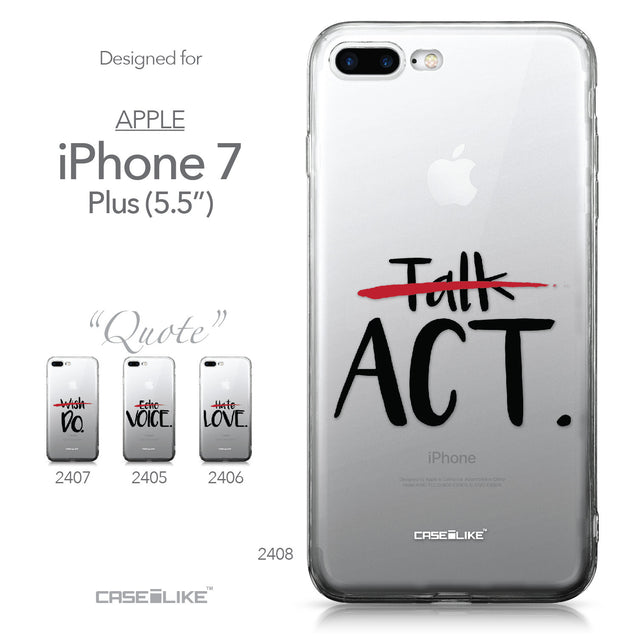 Apple iPhone 7 Plus case Quote 2408 Collection | CASEiLIKE.com