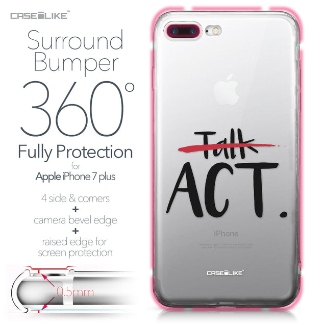 Apple iPhone 7 Plus case Quote 2408 Bumper Case Protection | CASEiLIKE.com