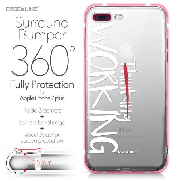 Apple iPhone 7 Plus case Quote 2411 Bumper Case Protection | CASEiLIKE.com