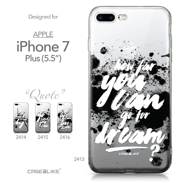 Apple iPhone 7 Plus case Quote 2413 Collection | CASEiLIKE.com