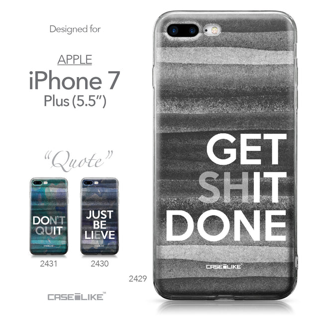 Apple iPhone 7 Plus case Quote 2429 Collection | CASEiLIKE.com