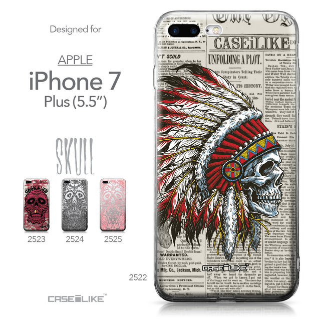 Apple iPhone 7 Plus case Art of Skull 2522 Collection | CASEiLIKE.com