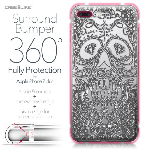 Apple iPhone 7 Plus case Art of Skull 2524 Bumper Case Protection | CASEiLIKE.com