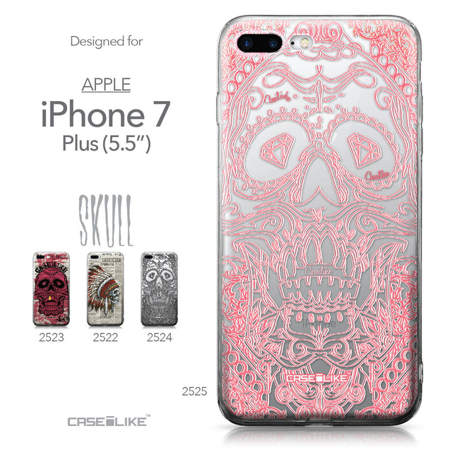 Apple iPhone 7 Plus case Art of Skull 2525 Collection | CASEiLIKE.com