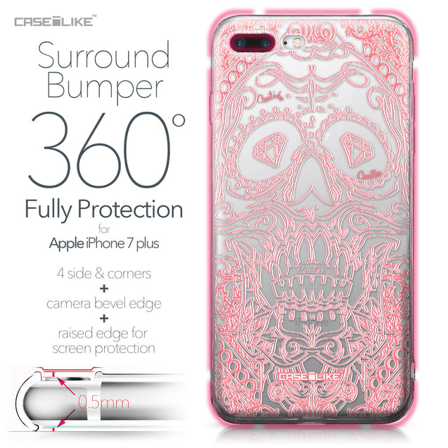 Apple iPhone 7 Plus case Art of Skull 2525 Bumper Case Protection | CASEiLIKE.com