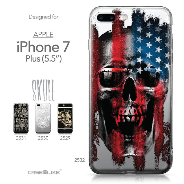 Apple iPhone 7 Plus case Art of Skull 2532 Collection | CASEiLIKE.com