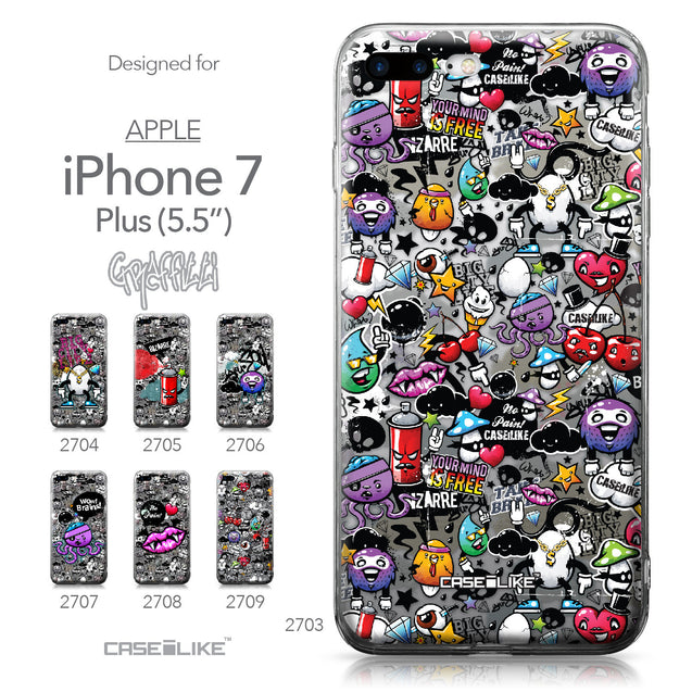 Apple iPhone 7 Plus case Graffiti 2703 Collection | CASEiLIKE.com