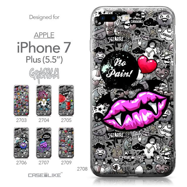Apple iPhone 7 Plus case Graffiti 2708 Collection | CASEiLIKE.com