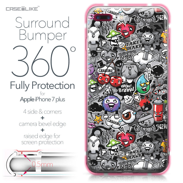 Apple iPhone 7 Plus case Graffiti 2709 Bumper Case Protection | CASEiLIKE.com